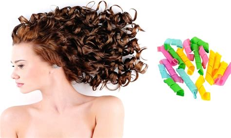 Hair Curlers No Heat by No Heat Miracle Curlers Set 2 Pack Groupon