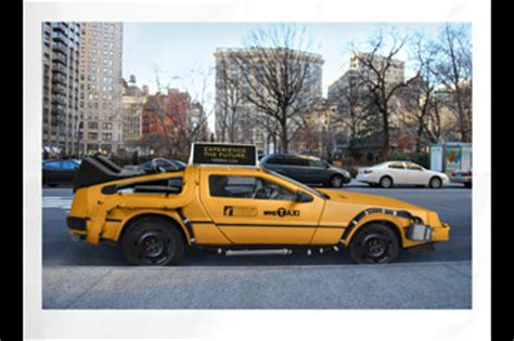 delorean back seat could the real taxi of tomorrow be a delorean driver