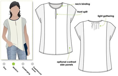 pattern review style arc stylearc sian combo top