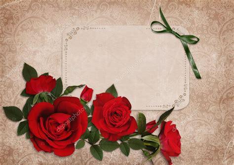 imagenes de rosas grises fondo cutre vintage con rosas rojas y una tarjeta de