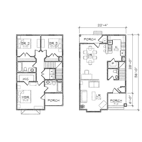 Home Plans Narrow Lot Madison Ii Queen Anne Floor Plan Tightlines Designs