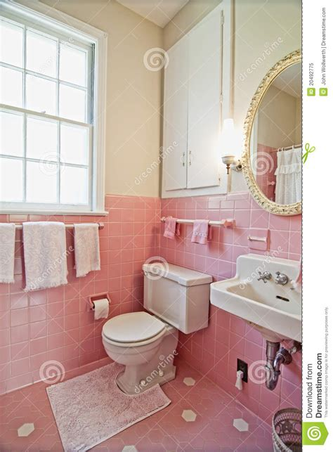 old pink bathroom pink bathroom stock image image of dated ugly room 20492775