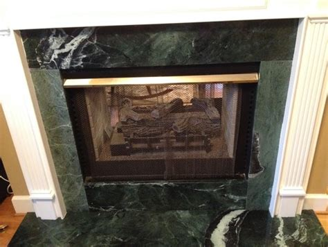 replacing marble fireplace surround