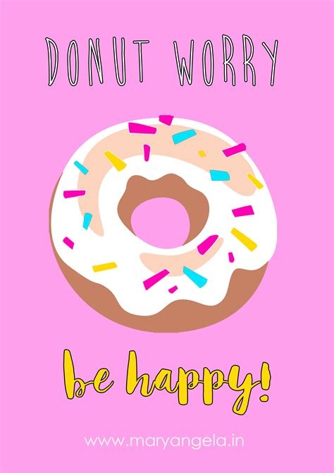 A4 Donut Printable FREE DOWNLOAD!