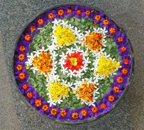 Diwali Decoration In Home by Pics Obsession Flower Rangoli Designs