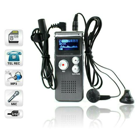 Perekam Suara Digital Voice Recorder 8gb R29 jual alat perekam suara voice recorder 8gb mp3 m a onlineshop
