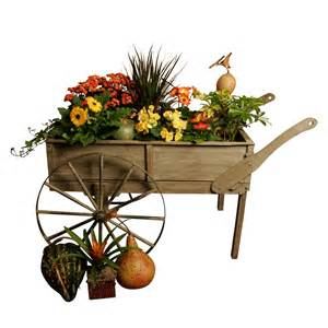 wald imports wood cart planter planters at hayneedle