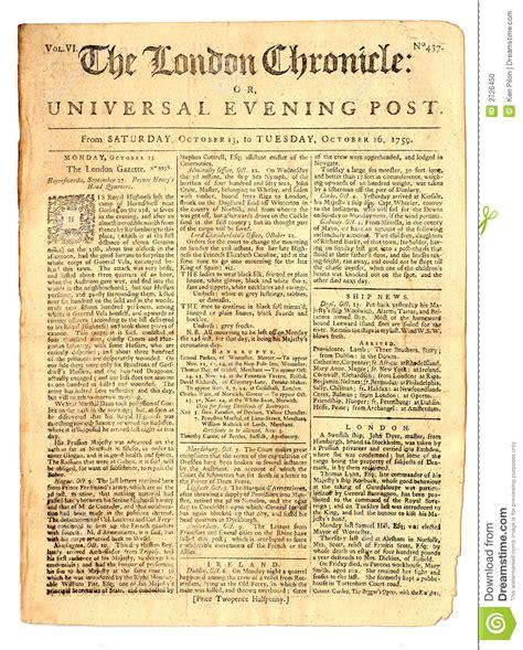 Book News Its Vintage vintage newspaper of 1759 stock photo image 2726450