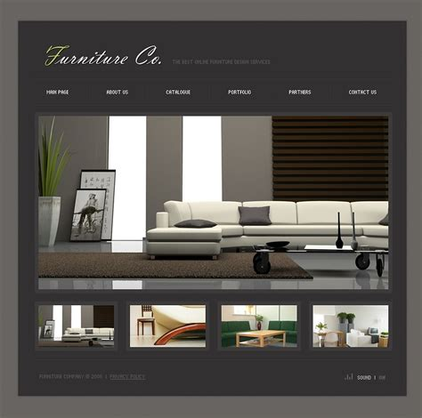 best home interior websites furniture flash template 18532