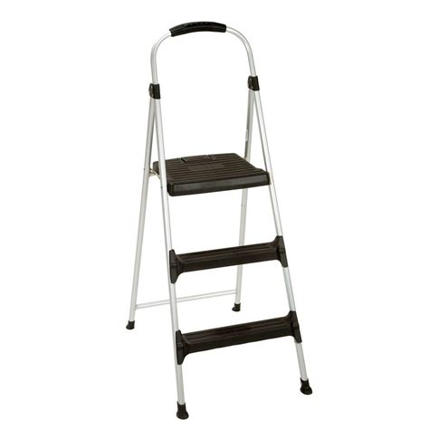 aluminum step stool with handle step stools cosco stepstool signature 3 step aluminum