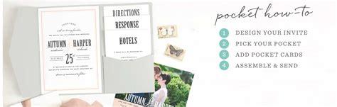 Pocket Wedding Invitations by Pocket Wedding Invitations By Basic Invite