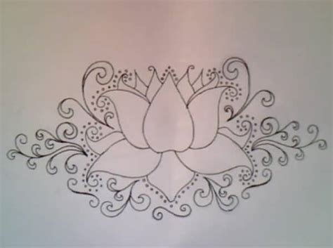 brilliant outline of lotus flower tattoo tattooshunter com