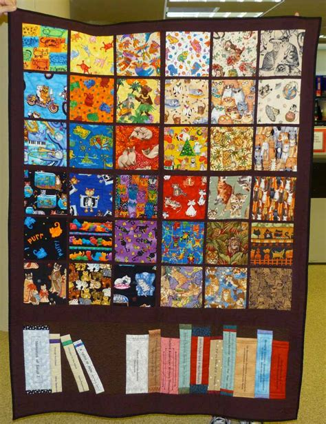 Library Quilt by Memorial Quilt For Ziegenbein At Library