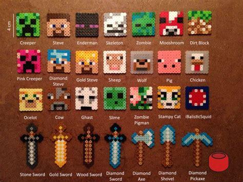 perler bead patterns minecraft 25 best ideas about hama minecraft on