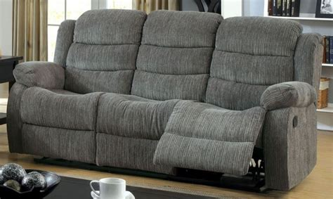 Millville Gray Chenille Reclining Sofa From Furniture Of Chenille Reclining Sofa
