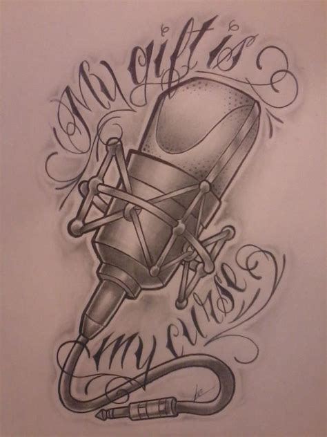 microphone tattoo design 44 best images about musical tattoos on