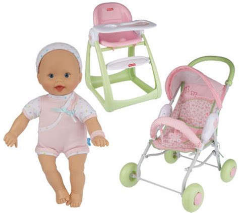 Fisher Price Doll High Chair by Fisher Price Newborn Baby Doll W Stroller