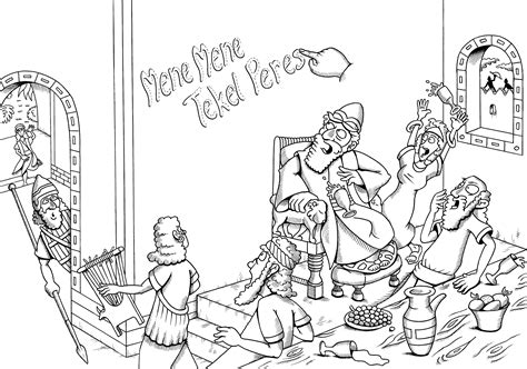 king belshazzar coloring pages daniel writing on the wall coloring page coloring pages