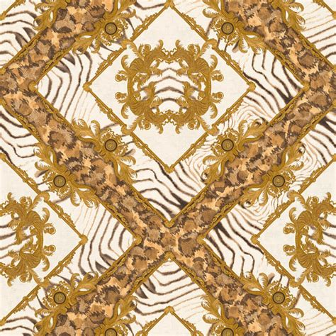 gold versace pattern zebra ornament brown metallic wallpaper versace home decor