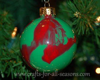 painting ornaments with acrylic paint paint swirled ornament