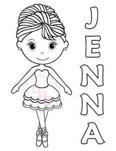 personalized printable ballerina dance birthday by