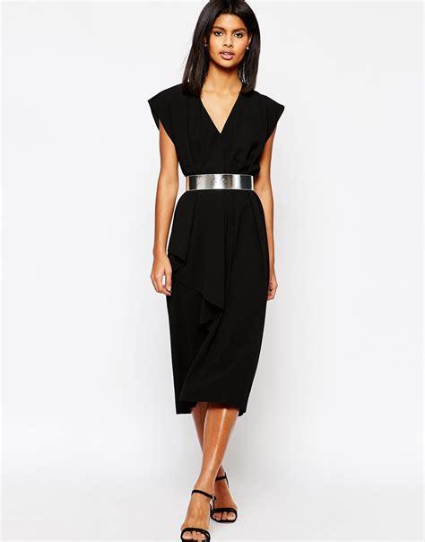 Dress With Belt asymmetric contemporary midi dress with belt ootd