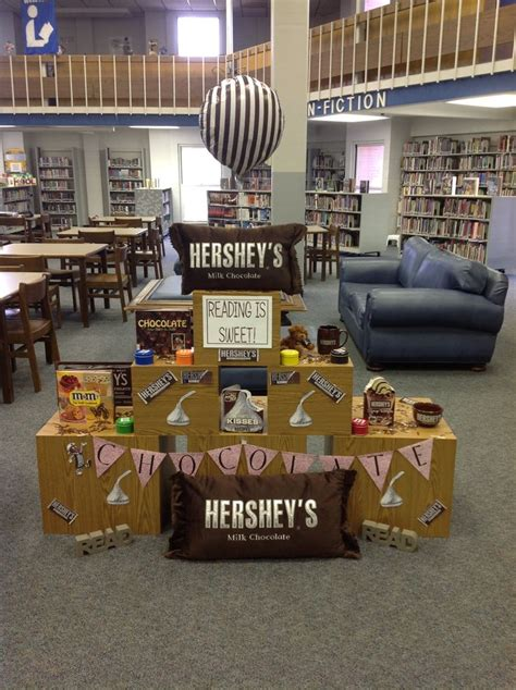 library book display ideas hubpages chocolate book display library display ideas