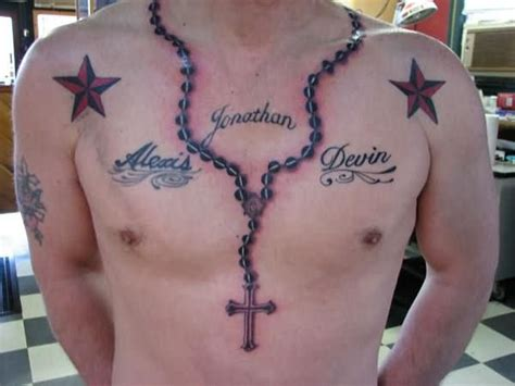 necklace tattoos designs 25 necklace chain cross tattoos designs golfian