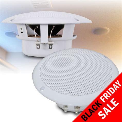 Resistant Ceiling by Pair 5 Quot Water Resistant Ceiling Wall Speakers Bathroom