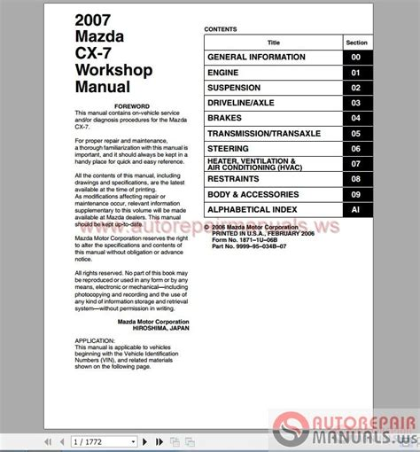 free online auto service manuals 2007 mazda cx 7 parental controls service manual auto repair manual free download 2007 mazda b series head up display mazda cx