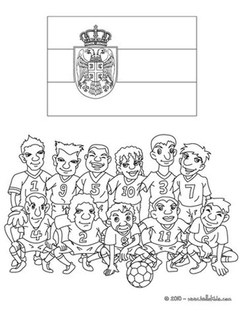team of serbia coloring pages hellokids com