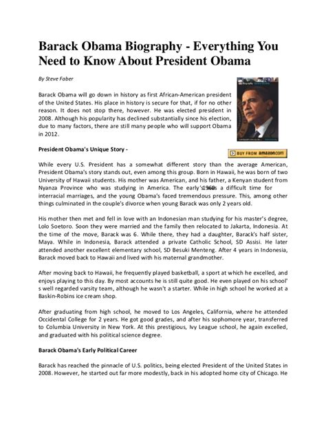 barack obama biography presentation barack obama biography everything you need to know about