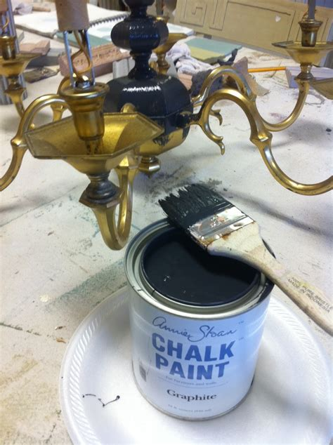 chalk paint light fixtures maison decor painting a brass chandelier