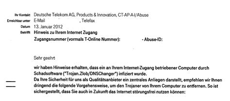 Anfrage Brief B2 Beispiel Dns Changer Www Dns Ok De Post Der Telekom Software De