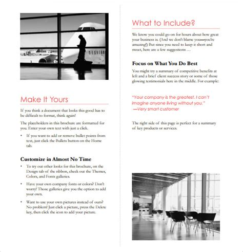 microsoft templates for brochures 7 microsoft brochure templates download free documents