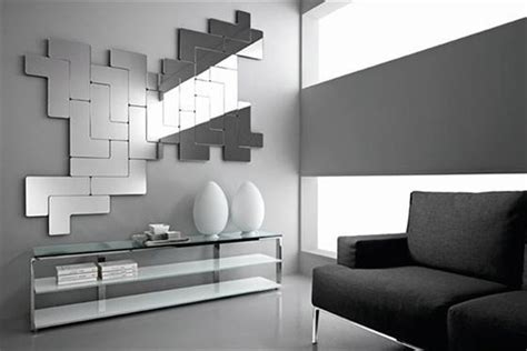 modern mirrors for living room geometric mirrors near the windows of a modern living room