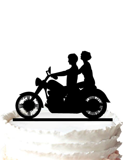 Wedding On Motorcycle Clipart by 2018 Motorcycle Biker Wedding Acrylic Cake Topper By