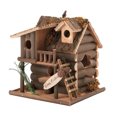 bird home decor fishing cabin bird house wholesale at koehler home decor
