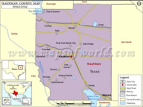 kaufman county map texas