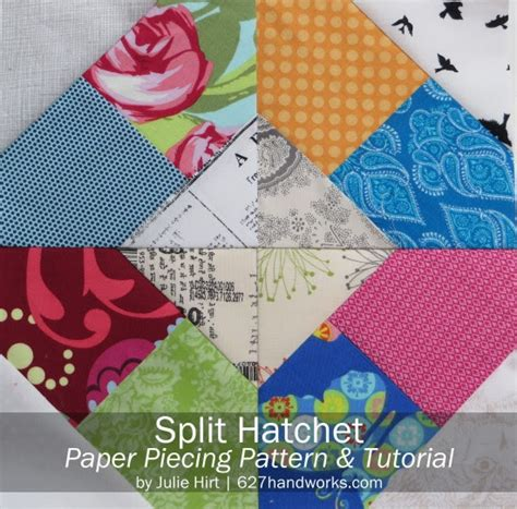 Piecing Patchwork Patterns - free paper piecing templates 627handworks