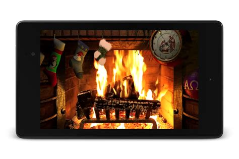 yule log fire live wallpaper android apps on google play fireplace for christmas lwp android apps on google play