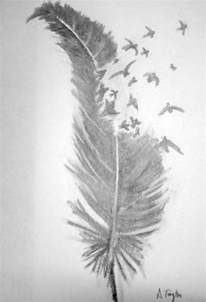 Simple Feather Drawings