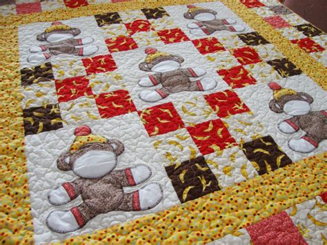 How To Make A Crib Quilt by Sock Monkey Crib Quilt Pattern Is Here Quilt Addicts