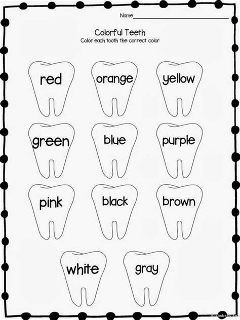 Dental Worksheets For by Print And Learn Literacy And Math Worksheets February
