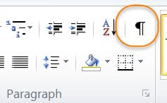 word hide layout characters showing non printing formatting marks in microsoft word