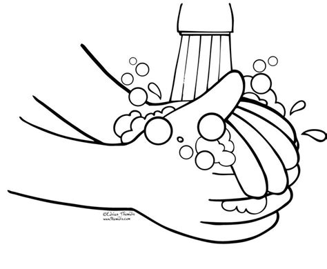wash your hands coloring page printable pages k health