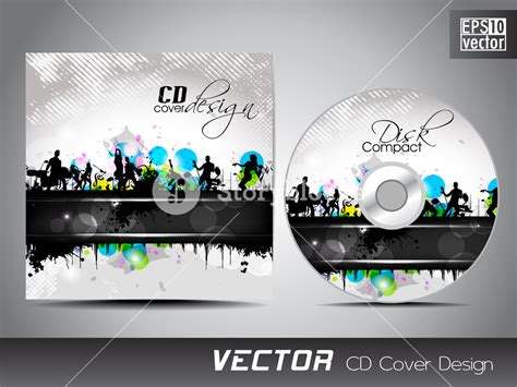 design cd cover in word cd cover presentation design template with copy space and