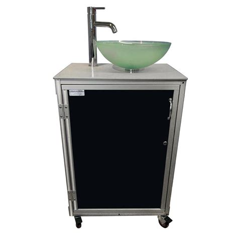Shop monsam black single basin stainless steel portable sink at lowes com
