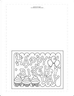 Printable Foldable Cards Coloring Book Templates by Print Out One Of These Birthday Card Coloring Pages To