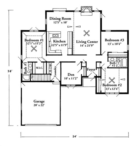 2000 sq ft house plans open house plans under 2000 square feet home deco plans
